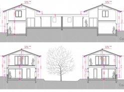 Arzier: villas mitoyennes en ossature bois sur plans